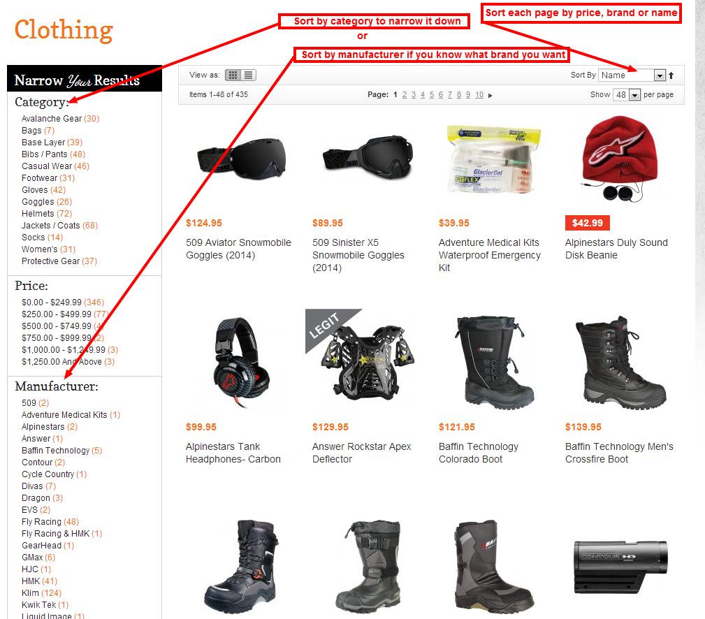 Snowmobile Gear Page