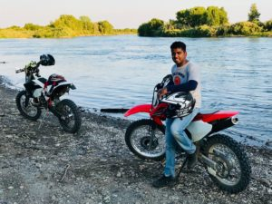 Dirt bikes by River