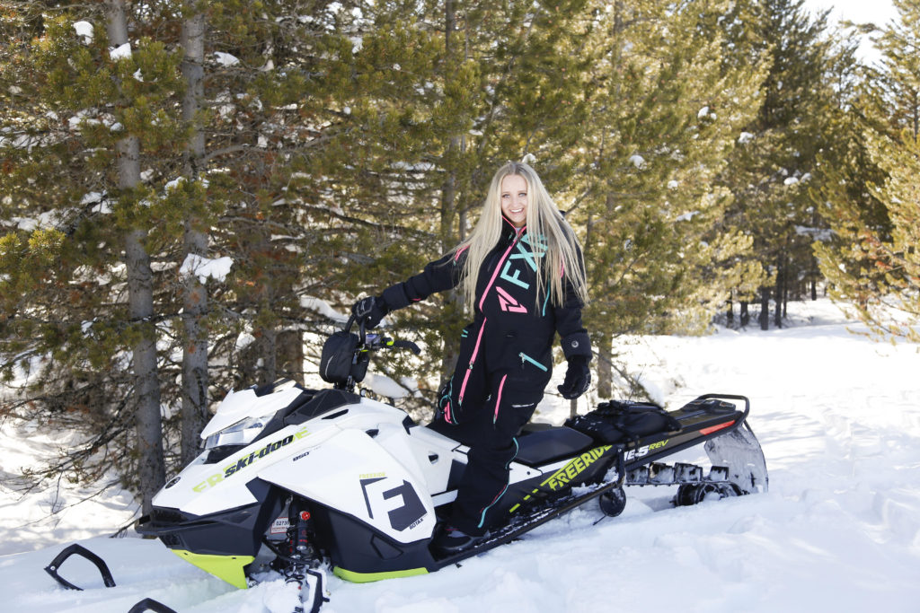 Alli on Ski-Doo Snowmobile